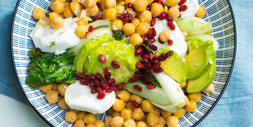 Avinžirnių salotos, vmg receptas