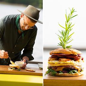 ALFAS VIENAS GAMTOJE receptas: šventinis burgeris, kuris nustebins visko ragavusiuosius (Receptas)