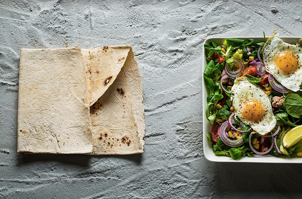 Tuno salotos su keptais kiaušiniais, vmg receptas