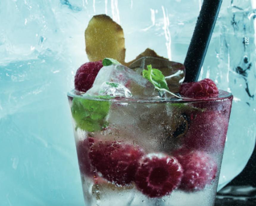 Imbierinis limonadas su avietėmis, vmg receptas