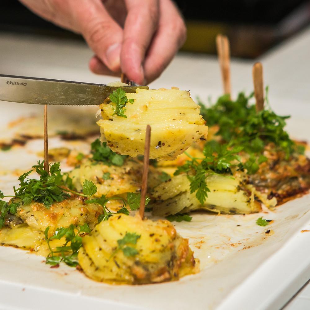 Orkaitėje kepti bulvių bokšteliai, vmg receptas