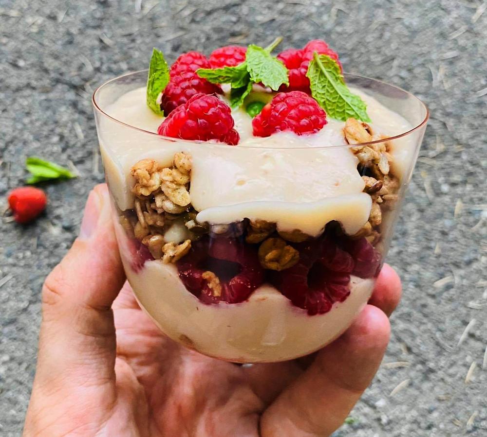 aviečių desertas su ledais, Alfo Ivanausko receptas