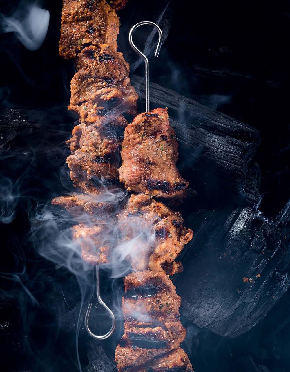 kiaulienos šašlykas, grilio patiekalai