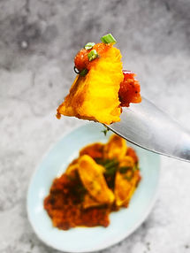 Bulviniai blyneliai-švilpikai su daržovių padažu (Receptas)