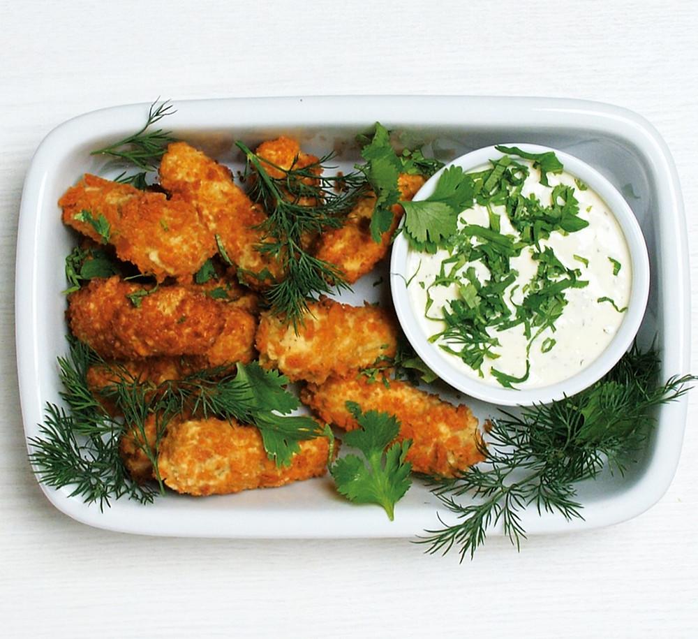 gruzdinti agurkėliai su gaiviu rikotos padažu, Alfo Ivanausko receptas, vmgonline receptas