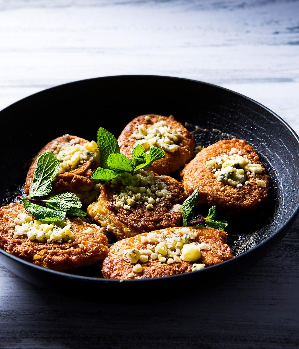 avižiniai dribsniai su kriaušėmis ir pelėsiniu sūriu, Alfo Ivanausko receptas