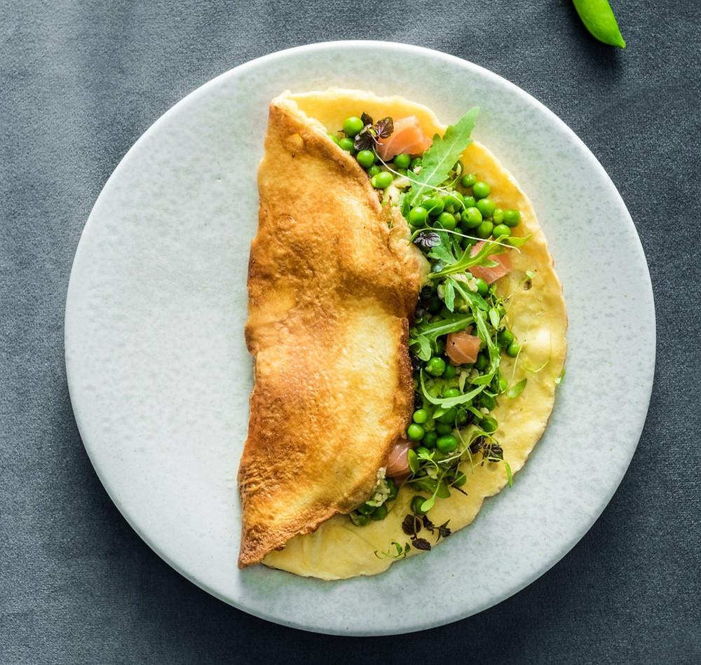 Omletas, Alfo receptas