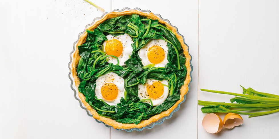 Tartas su špinatais ir kiaušiniais, vmg receptas