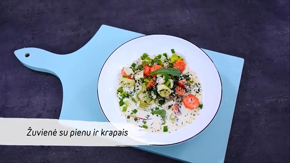 Žuvienė su pienu ir krapais, vmg receptas