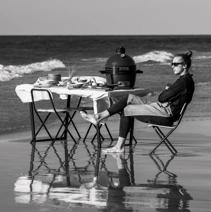 Šefas Bernardas Anužis, laukinė virtuvė, patiekalai ant laužo