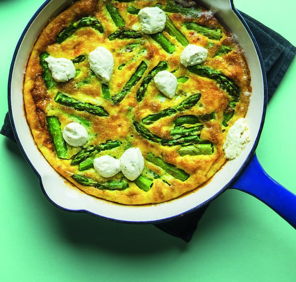 omletas su smidrais ir ožkų sūriu, Alfo Ivanausko receptas
