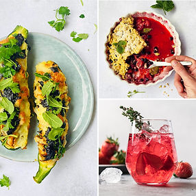 ALFAS VIENAS NAMUOSE receptai: traškios įdarytos cukinijos, uogų pyragas, naminis braškių limonadas