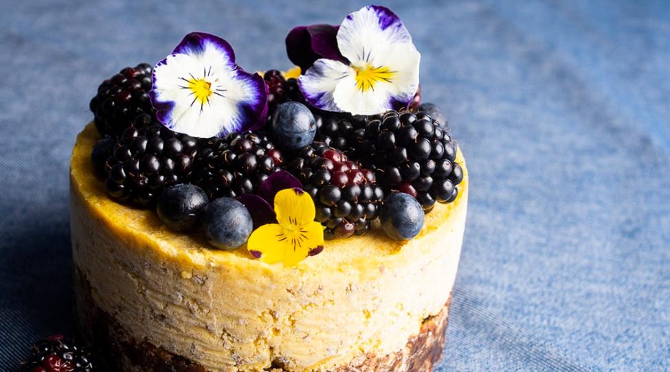Anakardžių tortas su ciberžole ir linų sėmenimis, vmg recpetas