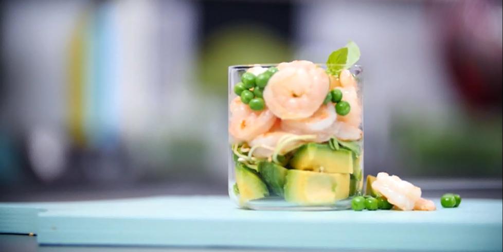Krevetės su avokadais, vmg receptas