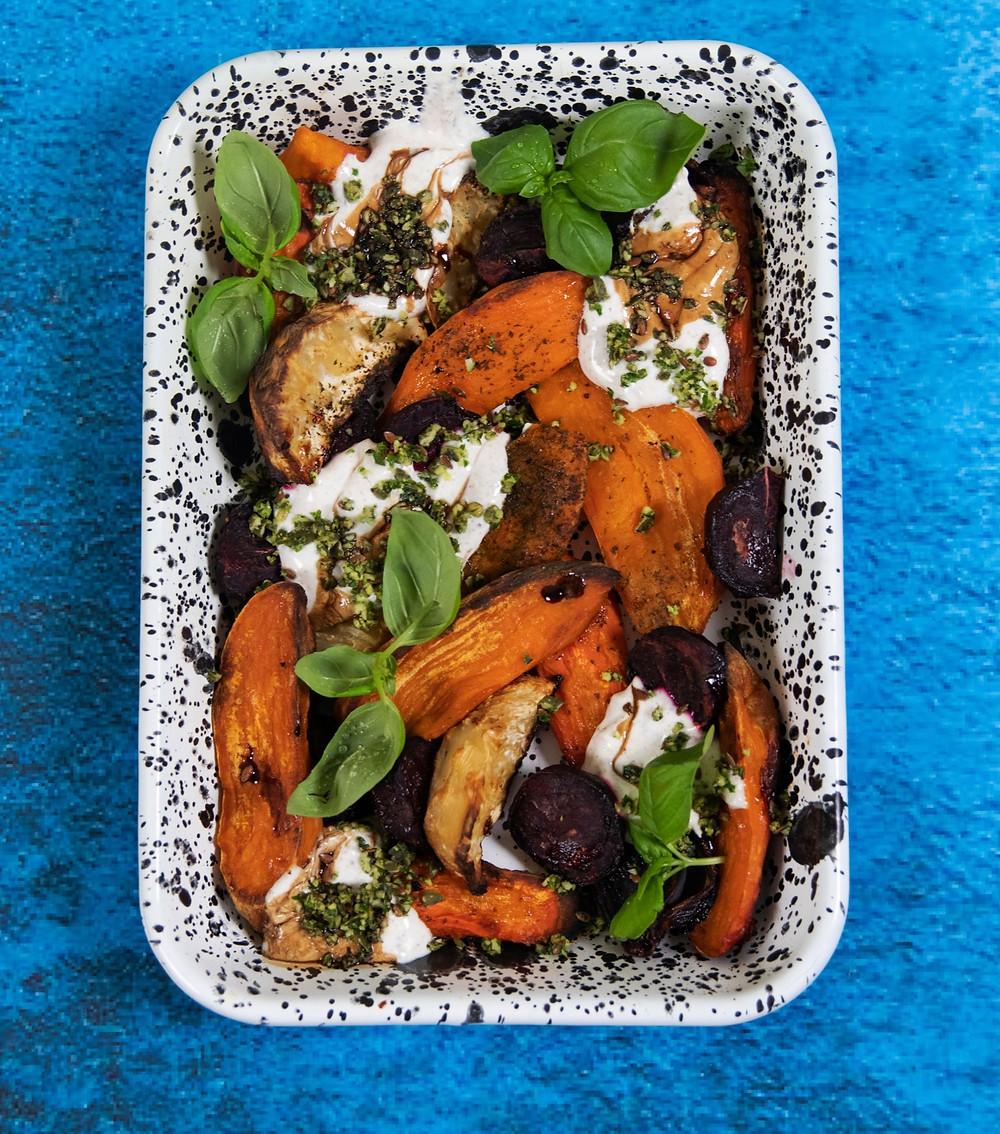 šakninių daržovių salotos, Alfo receptas
