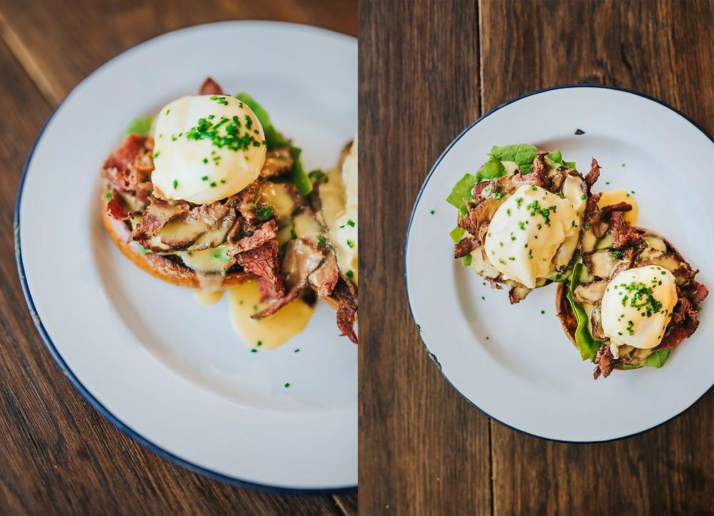 Du pastrami Benedikto kiaušiniai - 6,99 Eur. (Valerijos Stonytės nuotr.)