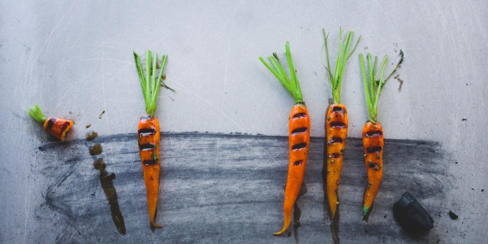 Keptos šviežios morkos, vmg receptas
