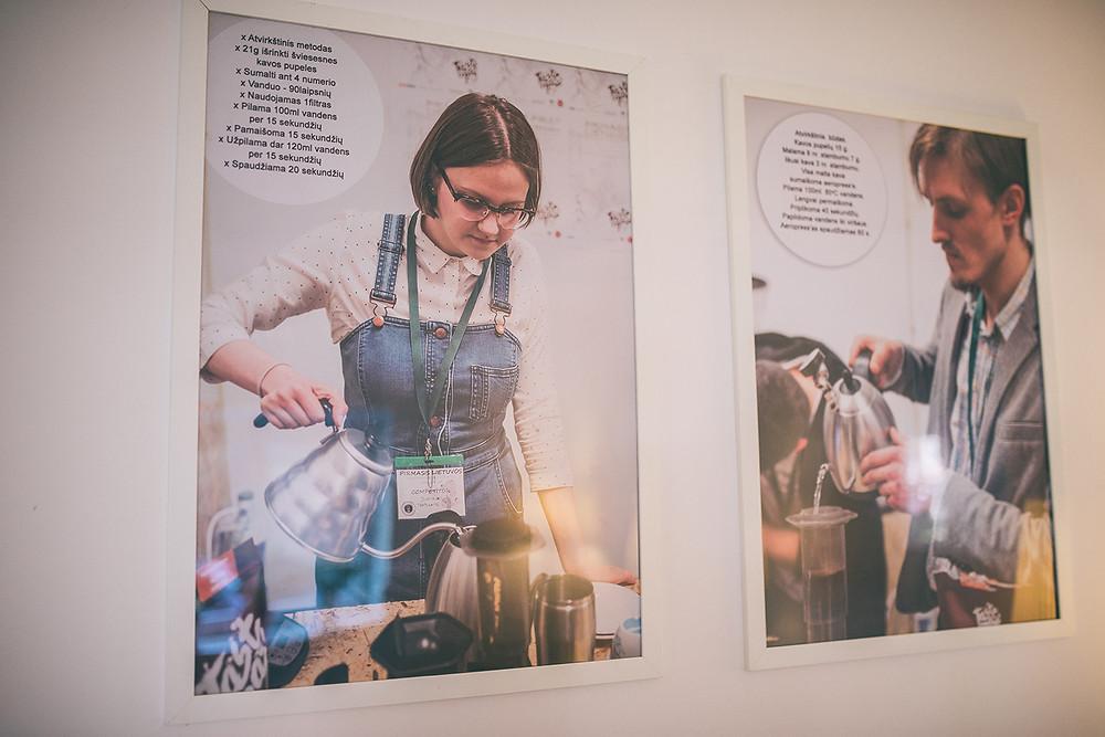 """Kava čia ruošiama keletu skirtingu būdų. Naudojamos """"Taste Map"""" skrudintos kavos pupelės (Valerijos Stonytės nuotr.)."""