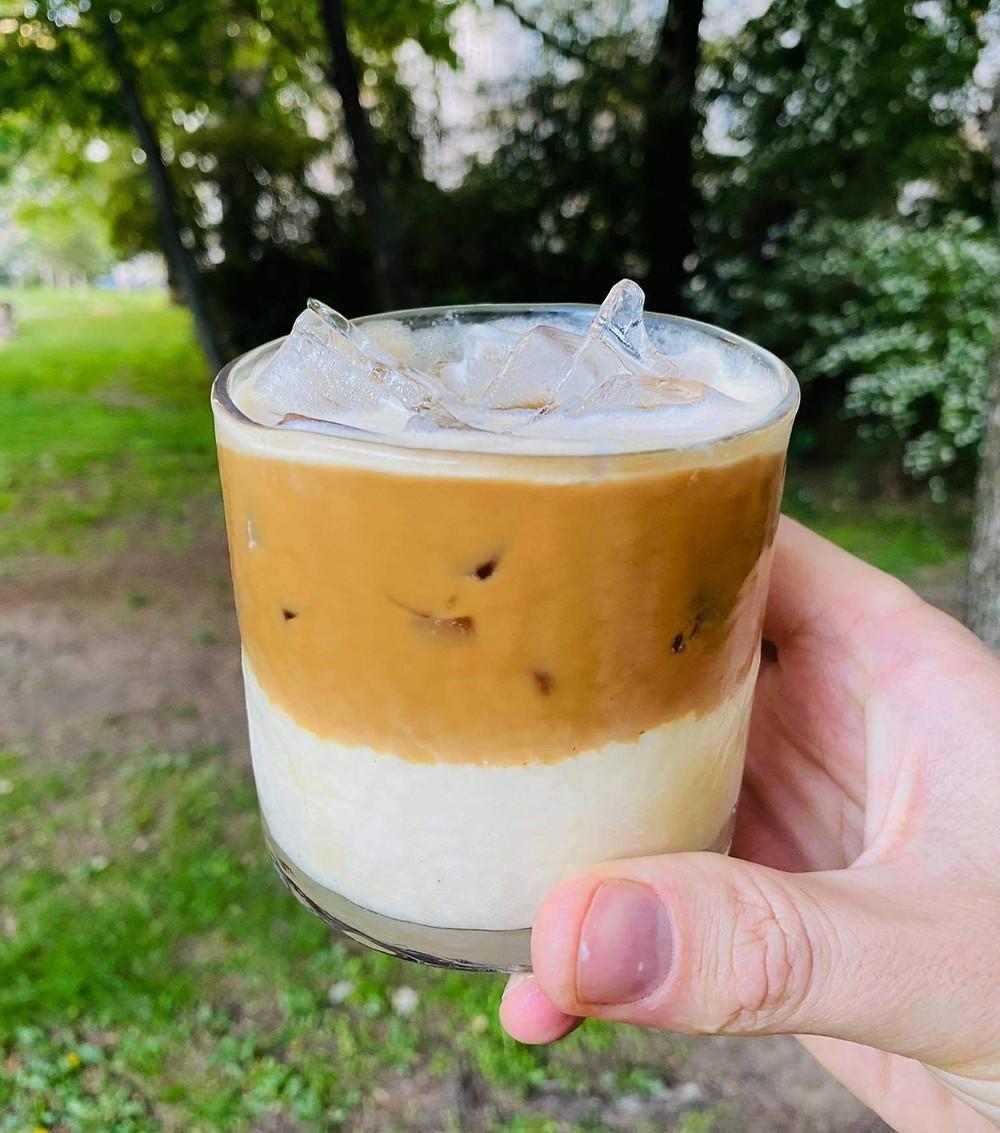 Alfo Ivanausko receptas, kokosinių ledų kavos desertas