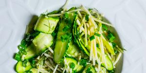 Gaivios žaliosios salotos, vmg receptas