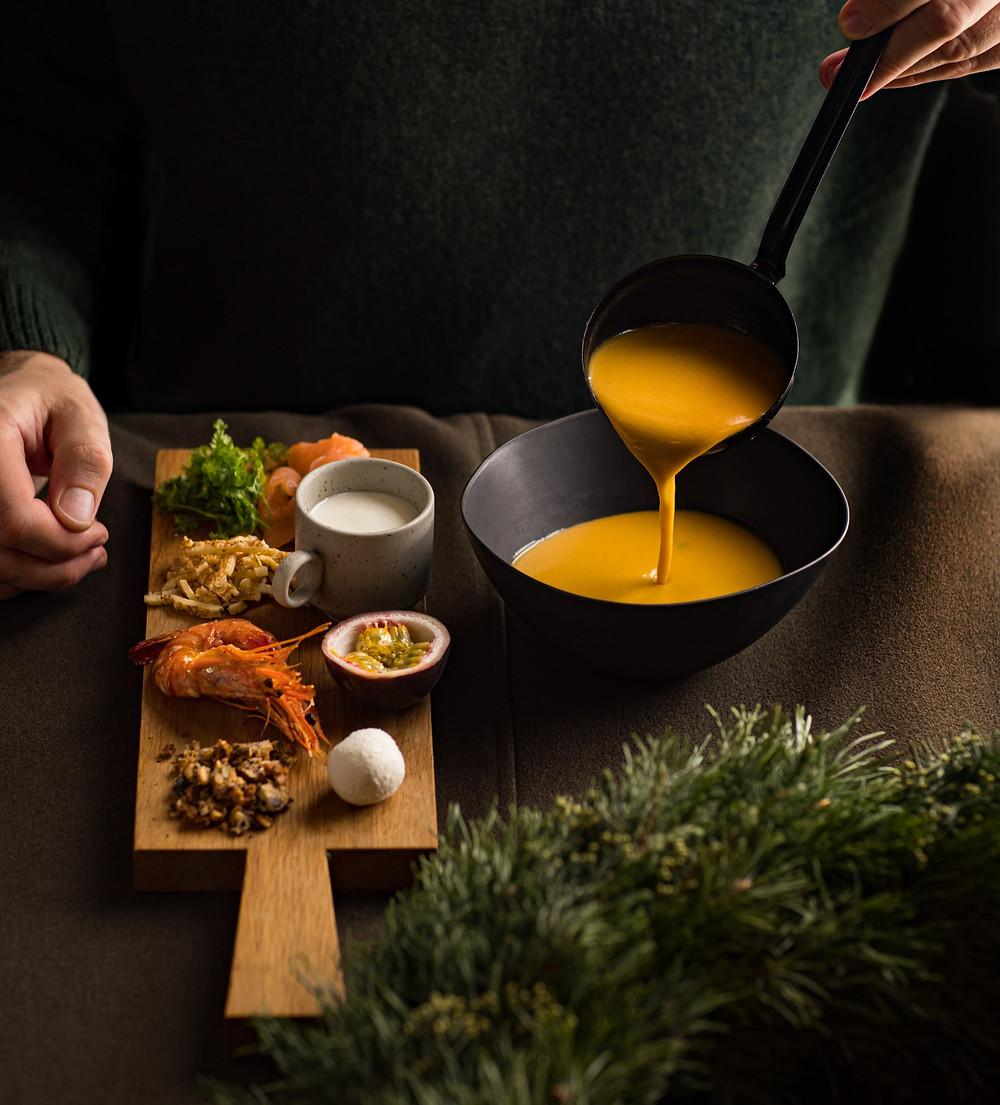 Keptų moliūgų sriuba su degustacija, Alfo receptas