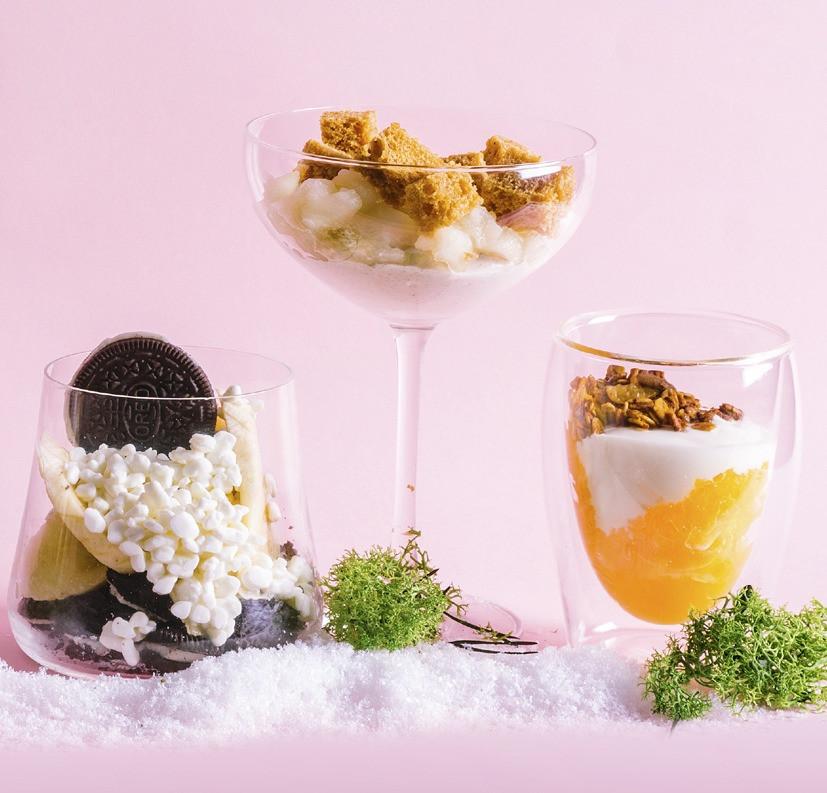 greitas desertas su ožkos sūriu, granola ir apelsinais, Alfo receptass