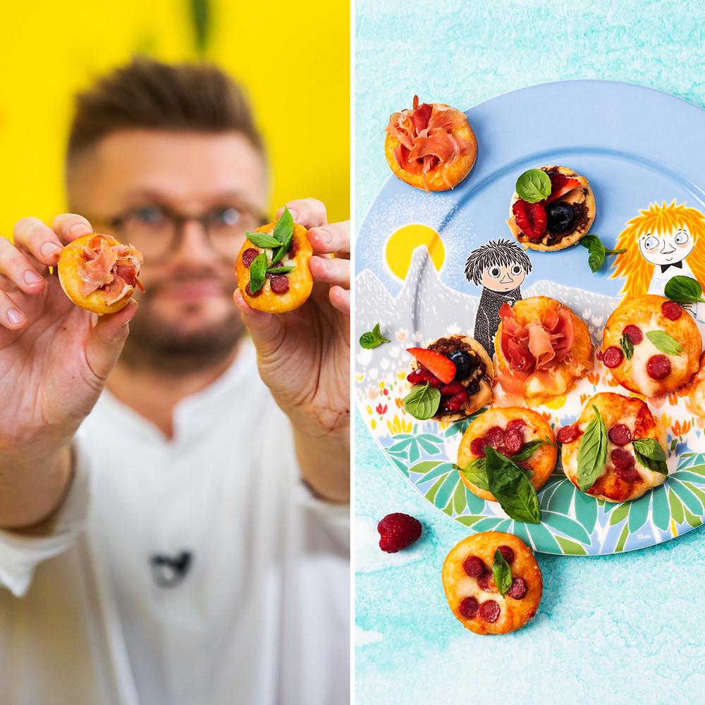 amerikietiškos mini picos, Alfo Ivanausko receptas