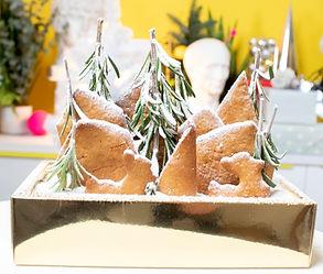 Kalėdinis meduolių namelis