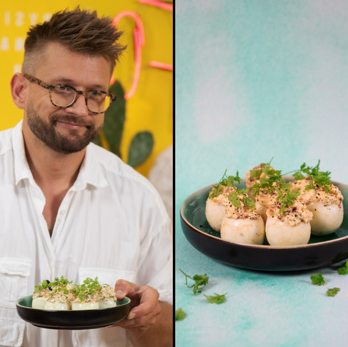 Tokio patiekalo reikalavo žiūrovai: originaliai įdaryti kiaušiniai