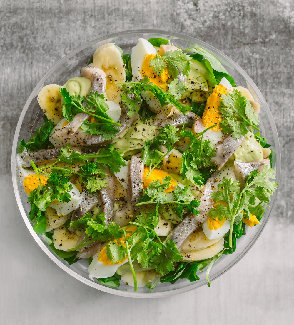 salotos su kiaušiniais, Alfo receptas