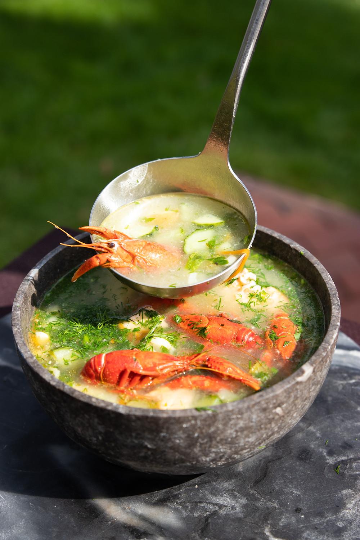 žuvienė su lašiša, grilyje kepta lašiša, žuvienė su vėžiais,grilio patiekalai, skani žuvienė, Alfo receptai