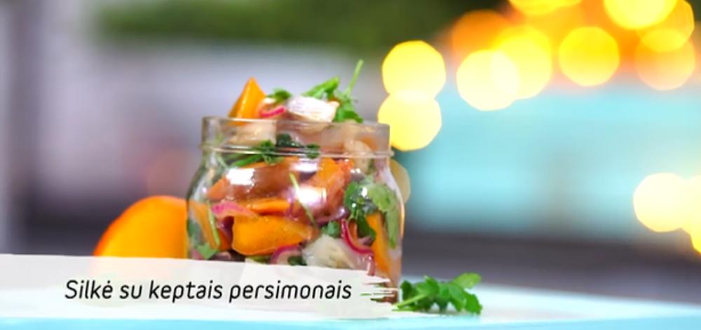 Silkė su persimonais, vmg receptas