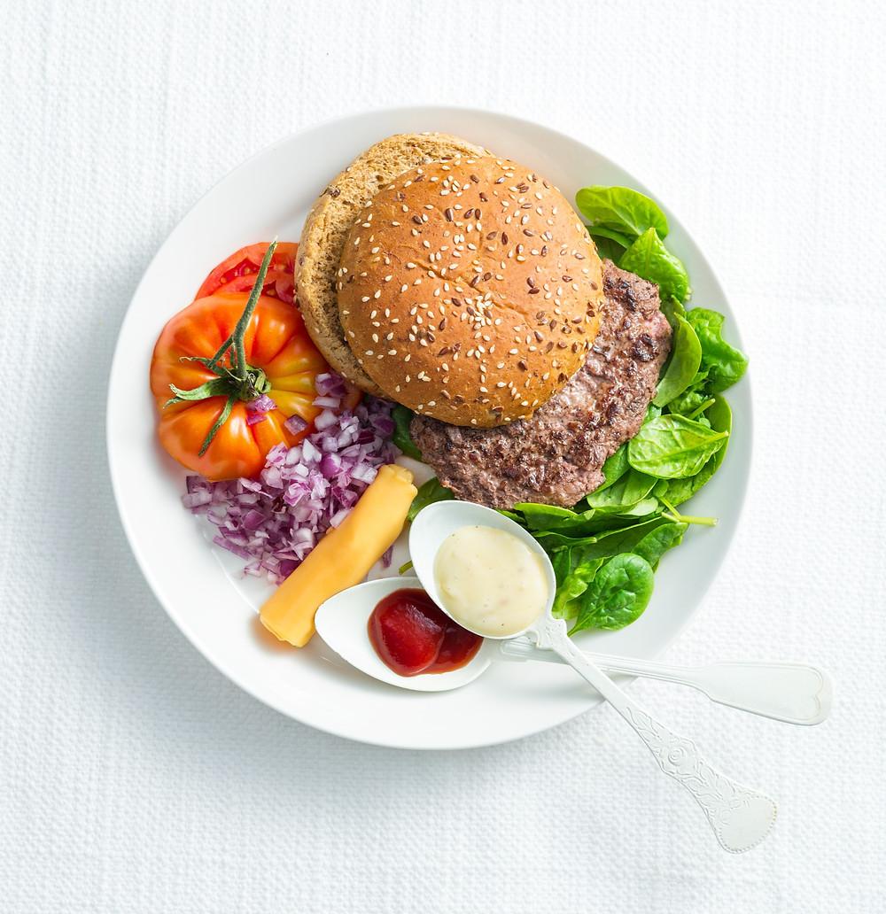 mėsainis su daržovėmis, Alfo Ivanausko receptas