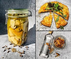 VIENAS NAMUOSE receptai: pyragas su baravykais, marinuoti baravykai, baravykų humusas ir pudra