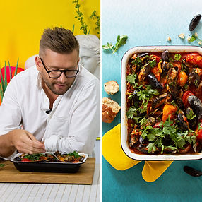 Mėsa įdarytos midijos pomidorų padaže (Receptas)