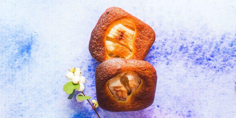 Varškės keksiukai su obuoliais, vmg receptas