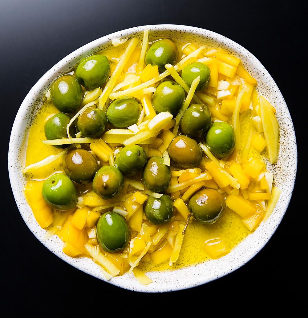 mangų marinate marinuotos alyvuogės, Alfo Ivanausko receptas