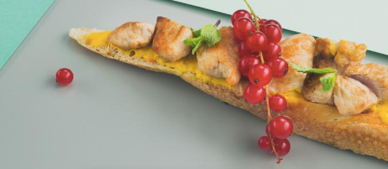 Sumuštinis su vištiena, mangu ir majonezu, vmg receptas