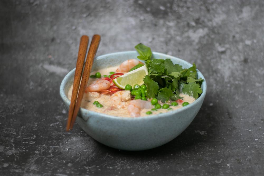 azijietiška tiršta kokosinė sriuba, VMGonline.lt