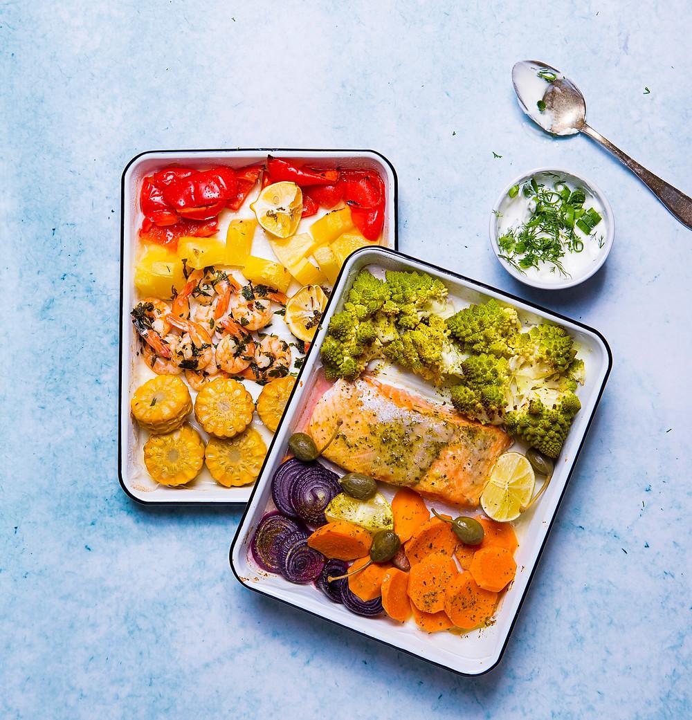 Krevetės skardoje, VMG receptai