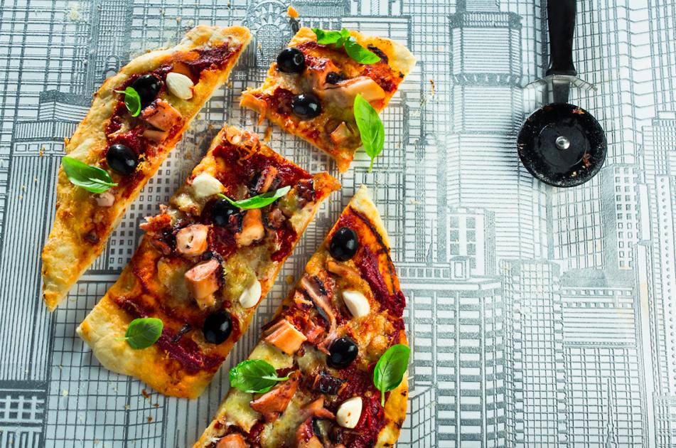 Pica su aštuonkojais, alyvuogėmis ir česnaku + PICOS PADAS, vmg receptas