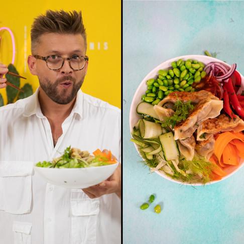 Ar kada teko tokių ragauti: azijietišku stiliumi ruoštos salotos su koldūnais