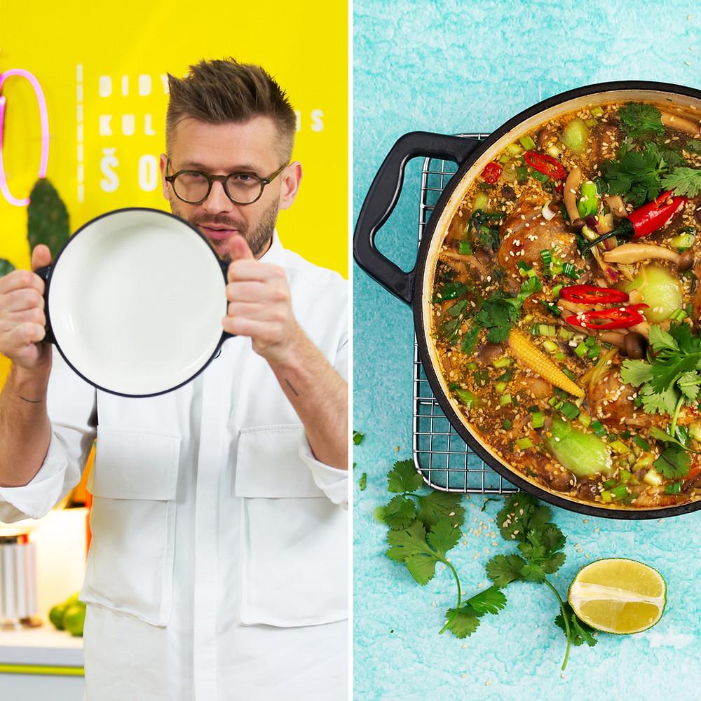 azijietiška sriuba, Alfo Ivanausko receptas