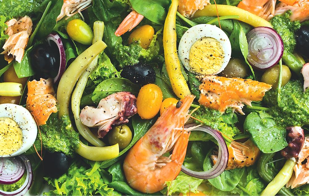 Jūros gėrybės su daržovėmis, vmg receptas