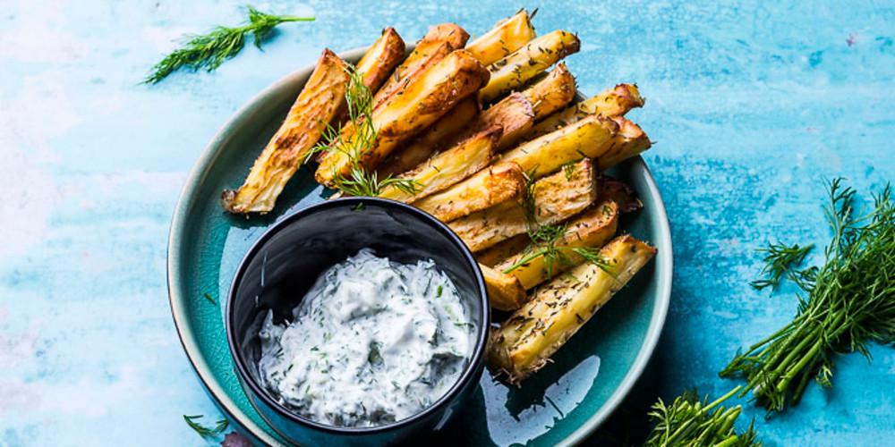 Bulvytės fri su baltymais ir prieskoniais orkaitėje, vmg receptas
