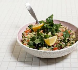 Kalafioro ryžių salotos, vmg receptas