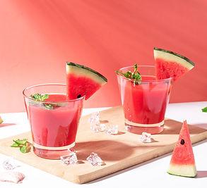 Gaivus nealkoholinis arbūzų ir mėtų kokteilis (Receptas)