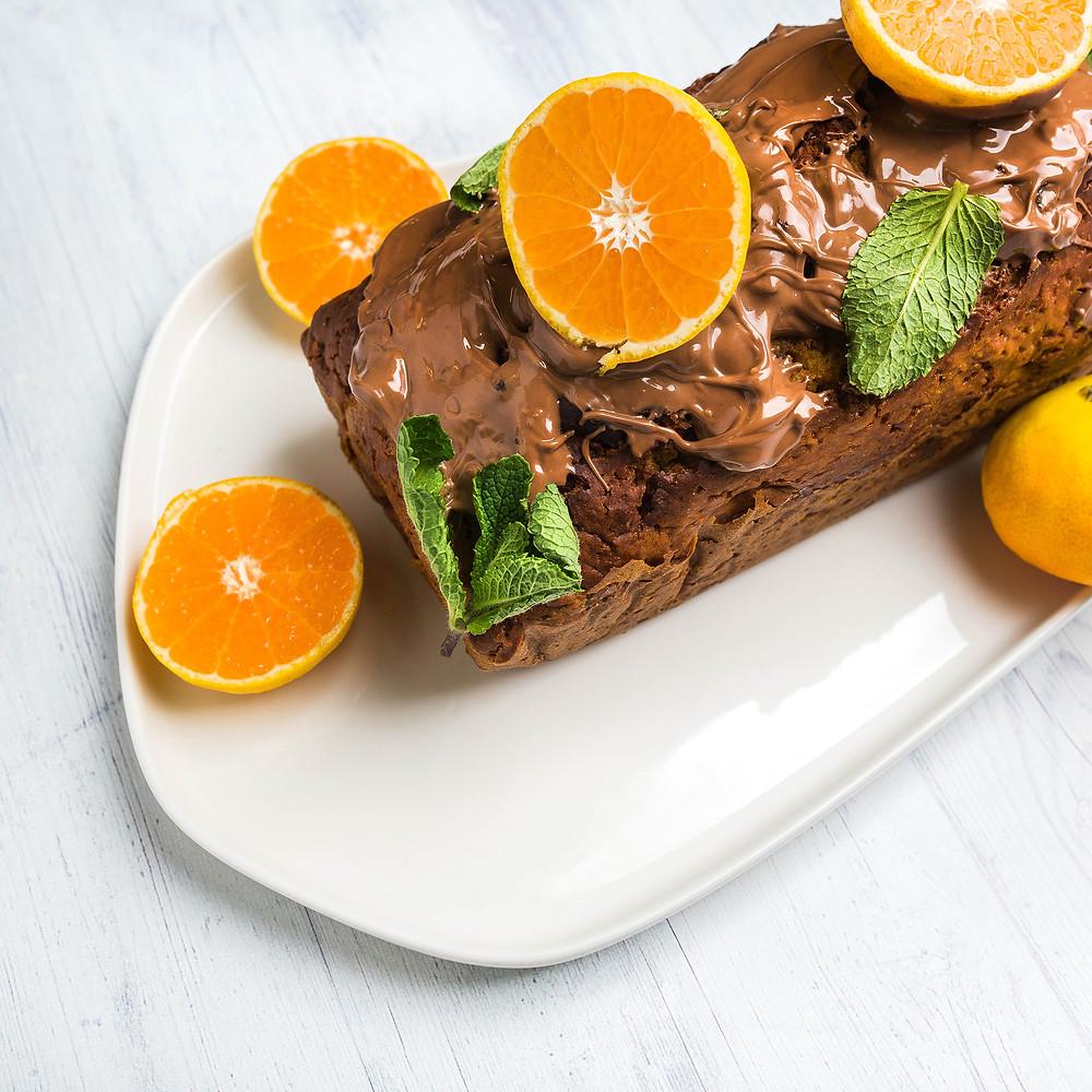 Moliūgų keksas su šokoladiniu glaistu, vmg receptai