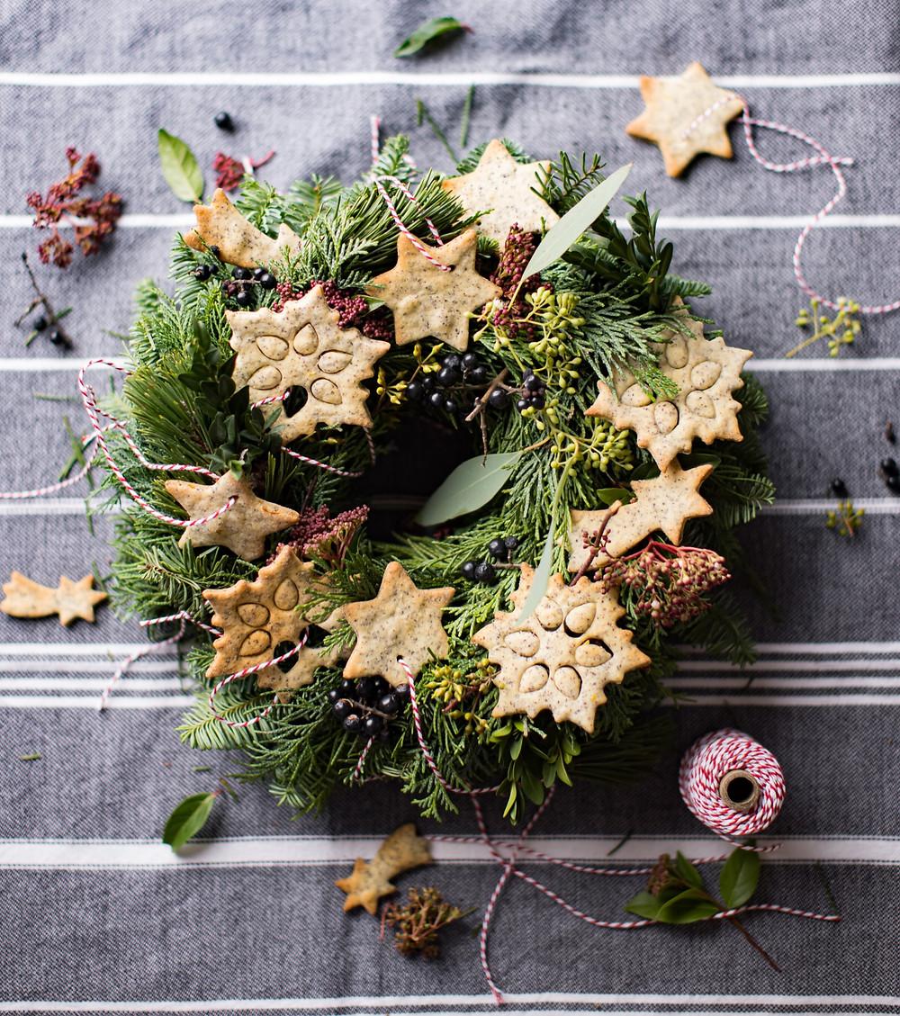 aguonininiai sausainiai, kepiniai, Kalėdos, valgomos dekoracijos, Alfo receptai