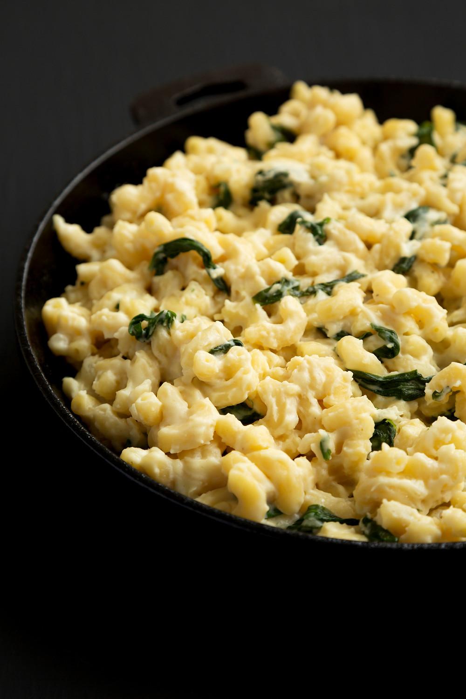 makaronai su sūriu ir špinatais, Mac and cheese, receptas. Alfo receptai